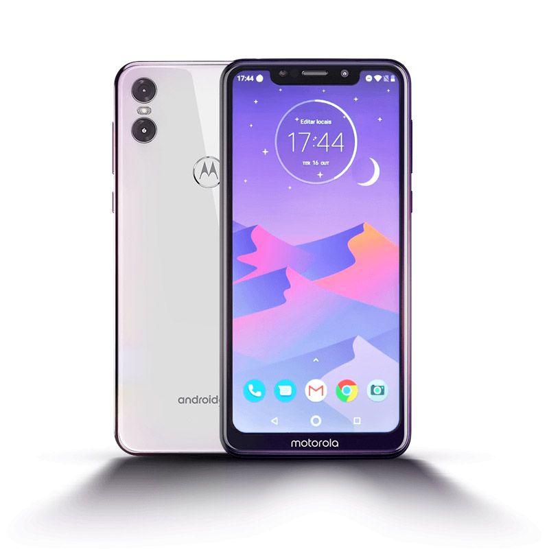 """Smartphone Moto One Motorola - 64GB, Android One, Tela de 5.9"""",  Dual Sim,  Câmera Dupla de 13MP + 2MP - Branco"""