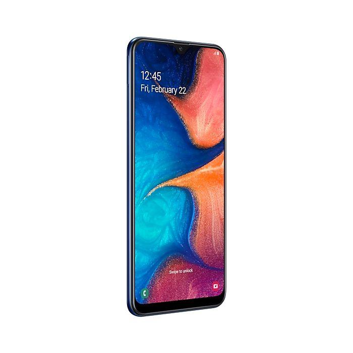 Smartphone Samsung Galaxy A20 Azul - 32GB, Dual Chip, Câmera Dupla 13MP+5MP
