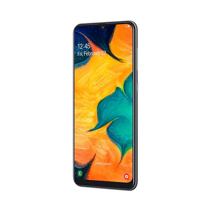 Smartphone Samsung Galaxy A30 Preto - 64GB, Selfie 16MP, Câmera Dupla 16MP+5MP, Dual Chip