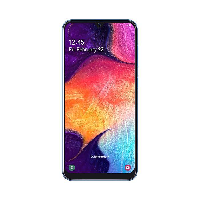 Smartphone Samsung Galaxy A50 Azul - 64GB, Selfie 25MP, Câmera tripla 25MP+5MP+8MP