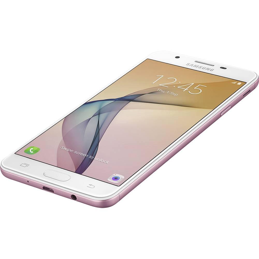 """Smartphone Samsung Galaxy J7 Prime, Dual chip, 16Gb, Tela de 5.5"""", Câmera de 13MP, Flash LED, Gravação de vídeo 1080p, Leitor biométrico - G610M (Rosa)"""