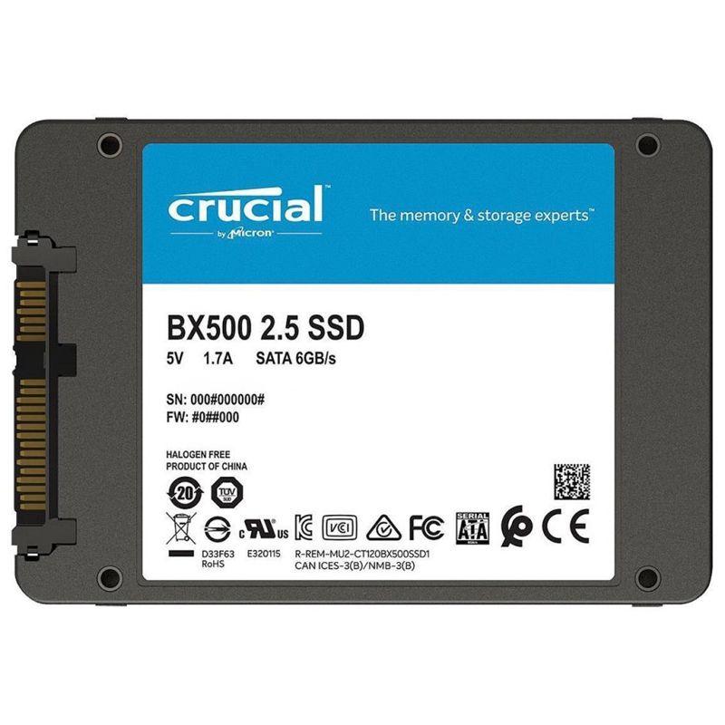 "SSD  240GB Crucial BX500, 540MBs/500MBs, SATA 3, 2.5"" - CT240BX500SSD1"