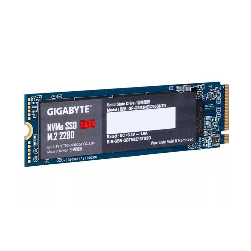 SSD 256GB M.2 NVMe Gigabyte A2000 - 1.700MBs / 1.100MBs - M2 2280 GP-GSM2NE3256GNTD