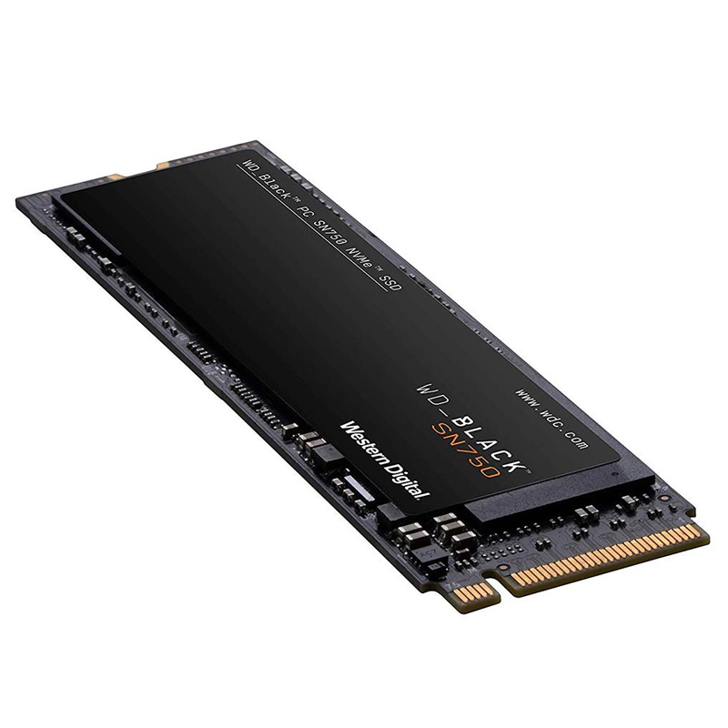 SSD 500GB M2 NVMe WD Black SN750 - 3430/2600MBs, M2 2280 - WDS500G3X0C