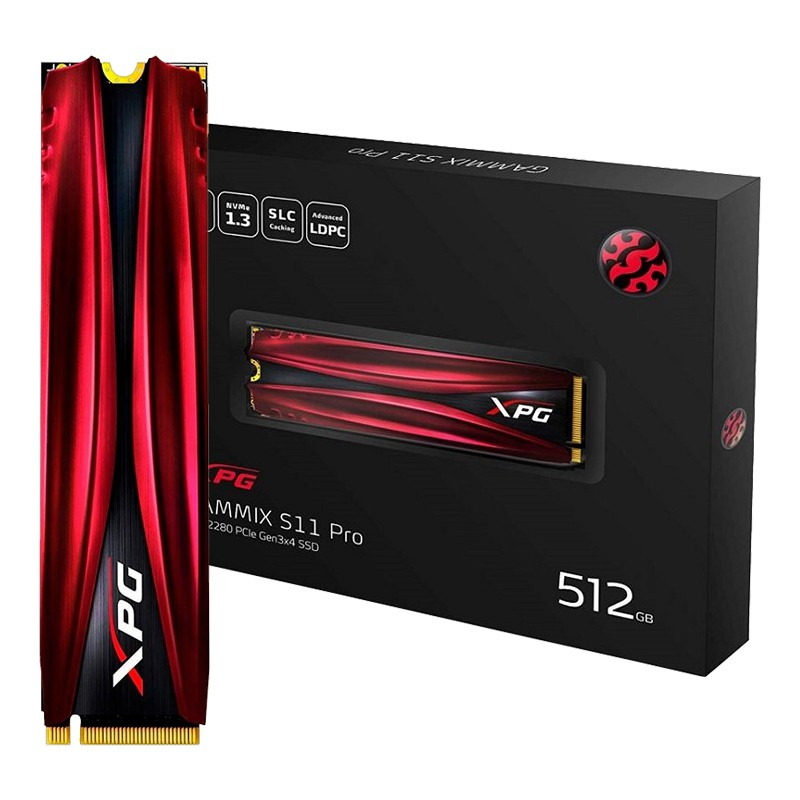 SSD 512GB M.2 NVMe ADATA XPG Gammix S11 Pro - AGAMMIXS11P-512GT-C