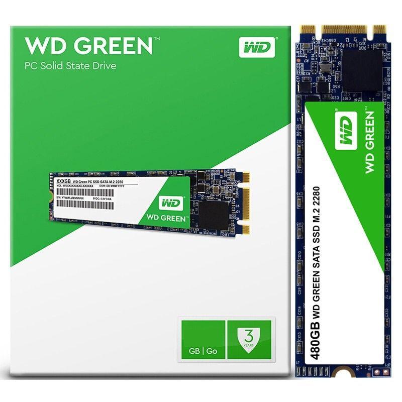 SSD M.2 Western Digital Green 480gb, M.2 2280, SATA 6Gb/s - WDS480G2G0B