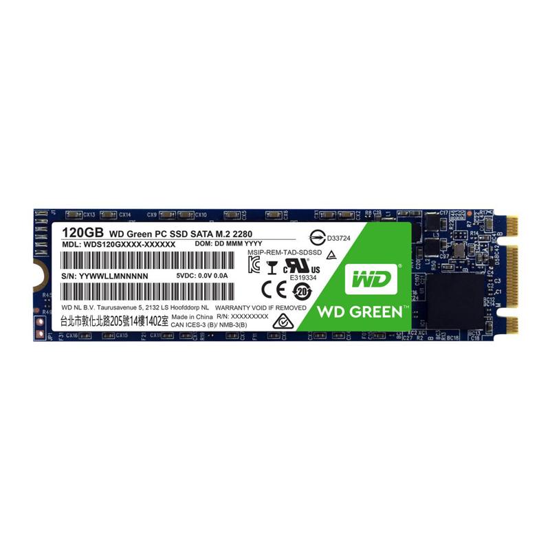 SSD 120GB M.2 SATA Western Digital Green - M2 2280 WDS120G1G0B
