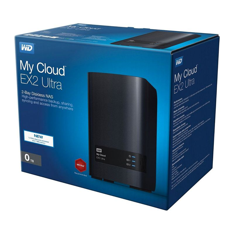 Storage NAS Western Digital My Cloud Expert Series Ex2 Ultra 2 Baias - WDBVBZ0000NCH