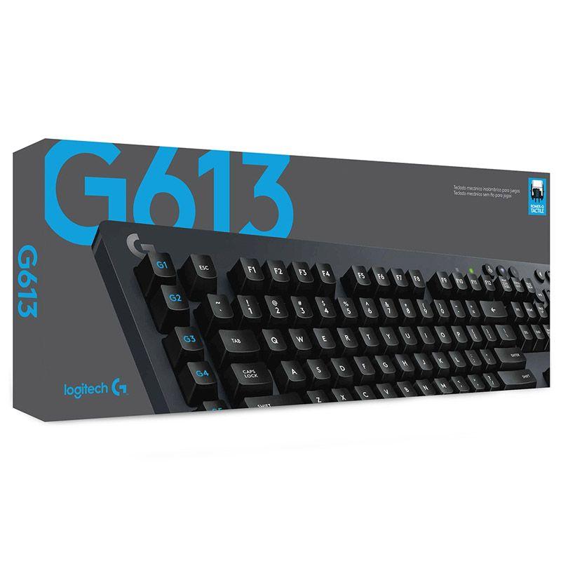 Teclado Gamer Logitech G613 - Mecânico, Wireless LIGHTSPEED, Bluetooth, 6 Teclas Programáveis, RGB