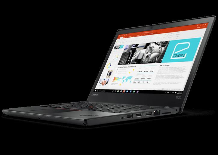 """Ultrabook Lenovo Thinkpad T470 - Intel Core i7 VPRO 7ª geração, 8GB de Memória, SSD de 256GB, Tela de 14"""" , Windows 10 PRO"""