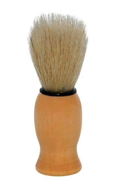 Pincel de Barba com Pêlo Natural Cabo de Madeira