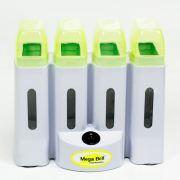 Aquecedor de Cera Roll-on Verde Limão - Aquece 4 Refis de Cera Simultaneamente