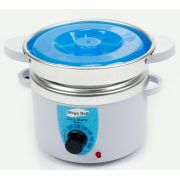 Aquecedor de Cera Termocera 150g - Bivolt Com Refil Branca com Azul