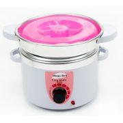 Aquecedor de Cera Termocera 150g - Bivolt Com Refil Branca com Rosa