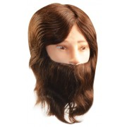 Cabeça Cabelo e Barba 100% Natural para Treino de Corte Masculino