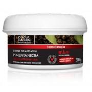 Creme De Massagem Pimenta Negra 300gr - D'agua Natural