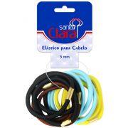 Elásticos Cores Sortidas 5mm - MD 02 Para Cabelos 12 Unidades