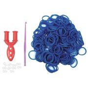 Elásticos Para Fazer Pulseiras Cor Azul Marinho 200 Unidades - Santa Clara