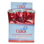 Kit Descartável Manicure Luva Metalizada - Caixa com 50 unidades