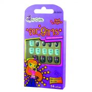 Mini Unhas Postiças Infantil Decoradas Child Faces BG-DA039 - You Care