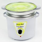 Panela Termocera para depilação Standard 700g - Bivolt Branca Com Verde Limão Com Refil