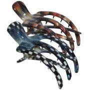 Piranha Grande Formato Garfo Estampada Para Cabelos - 02 Unidades