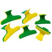 Piranha Plástica Verde E Amarelo Com 06 Unidades - Santa Clara