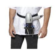 Porta Secador e Acessórios De Couro Modelo Vita Para Cabeleireiros