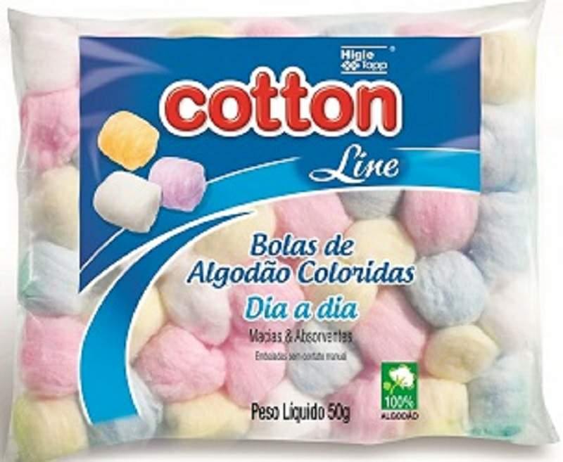Algodão de Bolinhas Coloridas 50g - Cotton Line
