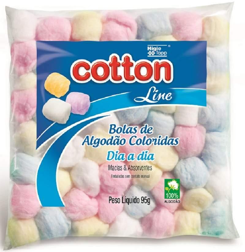 Algod�o de bolinhas coloridas 95g- Cotton Line