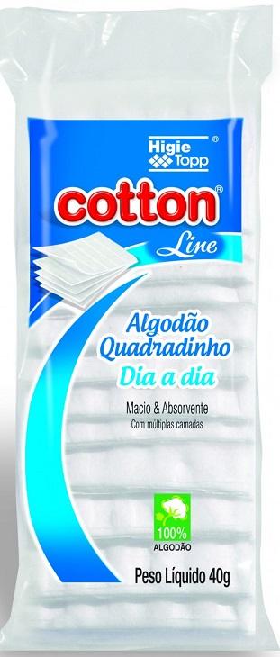 Algodão Quadrado Multiuso 40g - Cotton Line