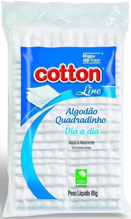 Algodão Quadrado Multiuso 95g – Cotton Line