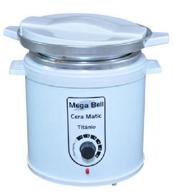 Aquecedor de Cera Titânio 1kg Bivolt - Mega Bell Com Refil