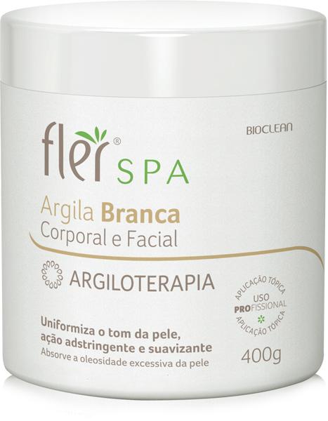Argila Branca Corporal e Facial Argiloterapia 400g Fl�r
