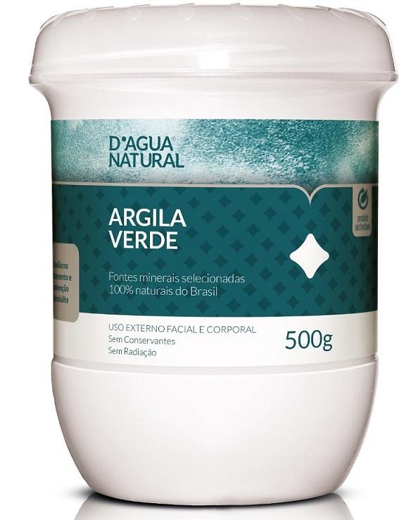 Argila Verde Tratamento e Preven��o de Celulite - 500g D�gua Natural