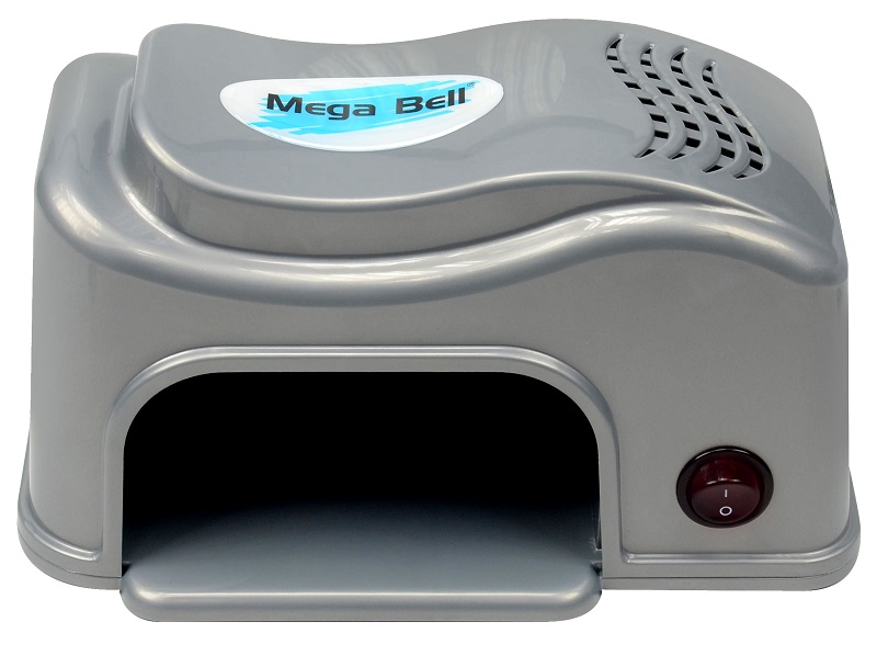 Cabine LED Compact Para Unhas de Gel e Acrigel - Mega Bell Prata