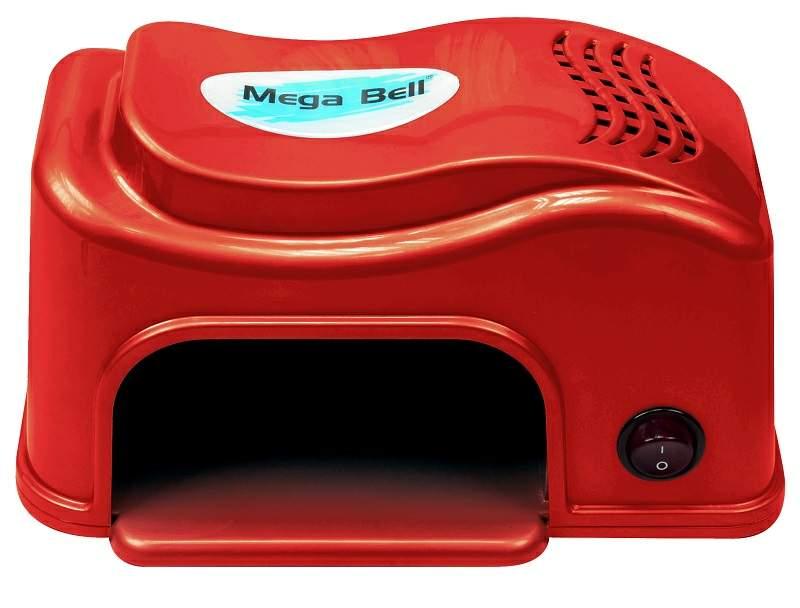 Cabine LED Compact Para Unhas de Gel e Acrigel - Mega Bell Vermelha