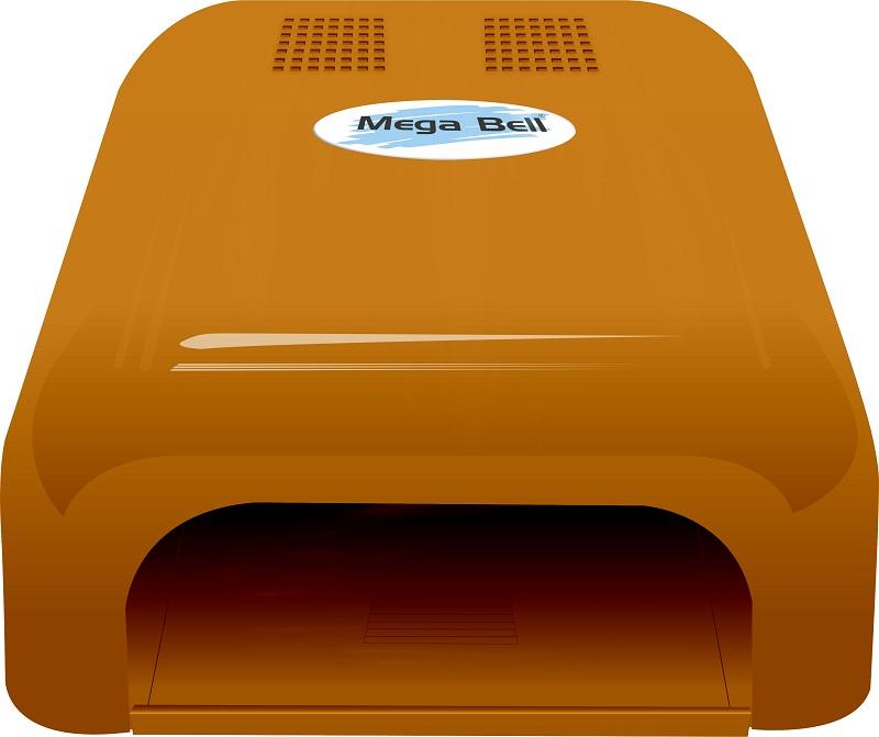Cabine UV para Unhas de Gel e Acry-Gel Mega Bell - Laranja 110v