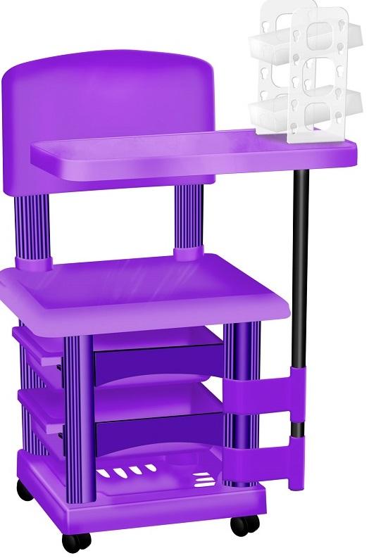 Cadeira Cirandinha Lilás Para Manicure Com Display para Esmaltes