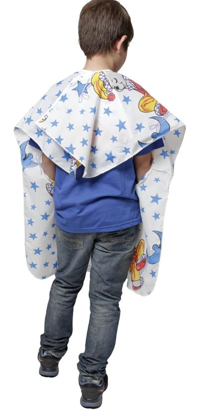 Capa De Corte Infantil Estampada Em Nylon Com Manga E Velcro