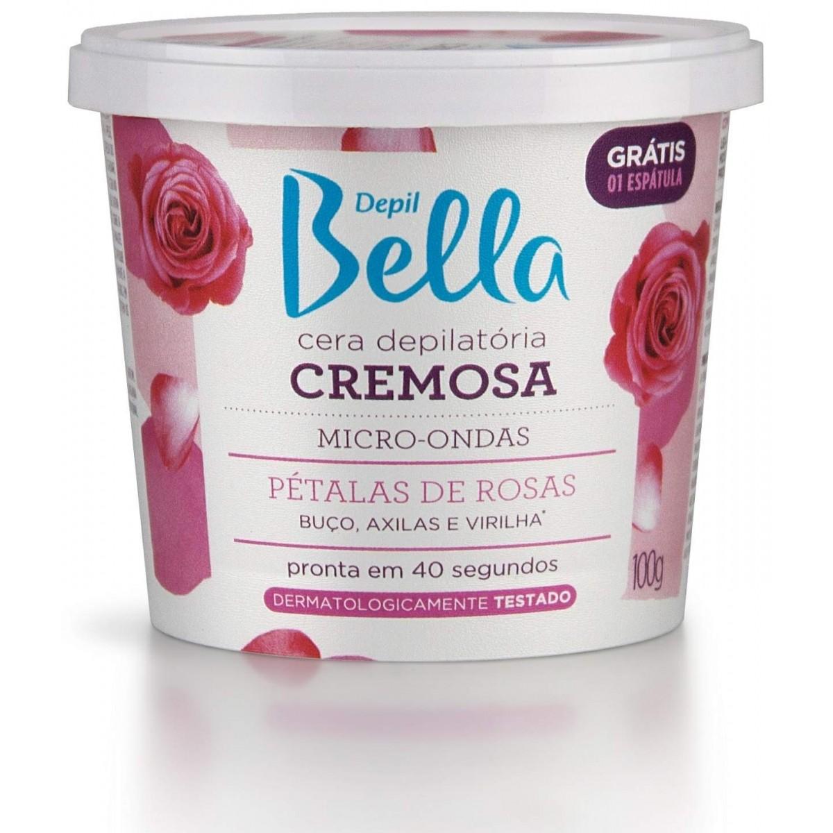 Cera Cremosa Micro-ondas Pétala De Rosas Depil Bella - 100g