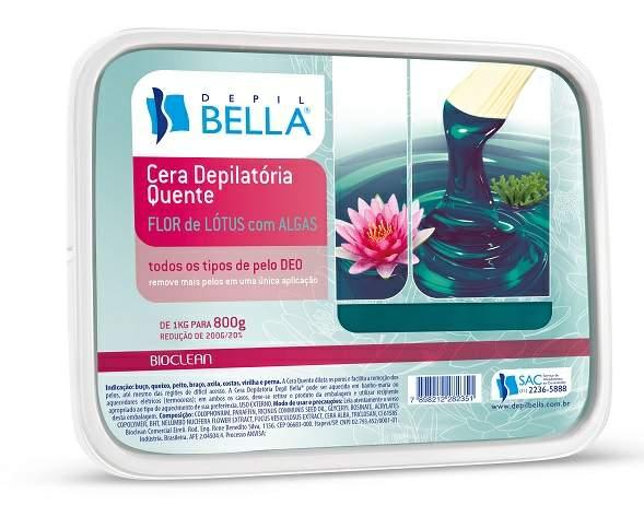 Cera Depilatória Quente 800gr - Flor de Lótus com Algas