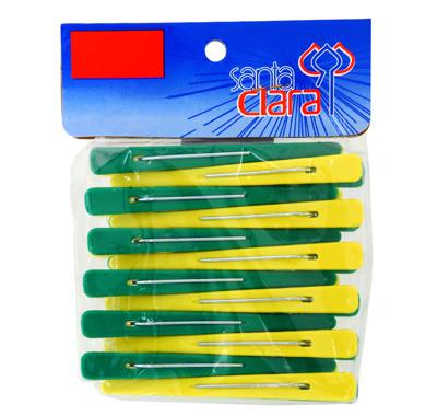 Clips Plásticos Verde e Amarelo Brasil