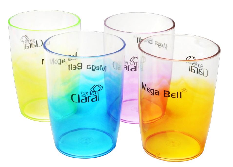 Copo De Plástico Bicolor Médio - Santa Clara