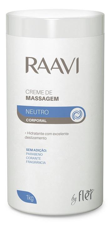 Creme de Massagem Neutro Corporal 1kg - Raavi