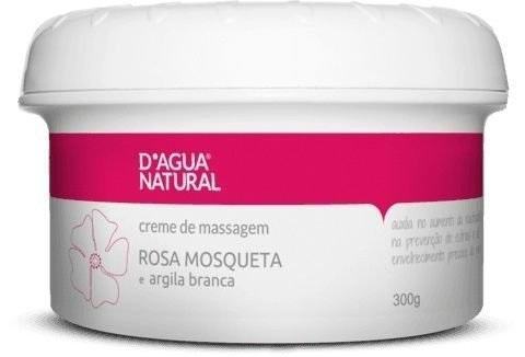Creme Massagem Rosa Mosqueta e Argila Branca Prevenção de Estrias 300g