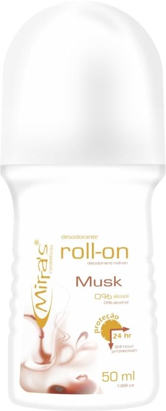 Desodorante Roll-on Musk Antitranspirante 50ml - Mirra´s