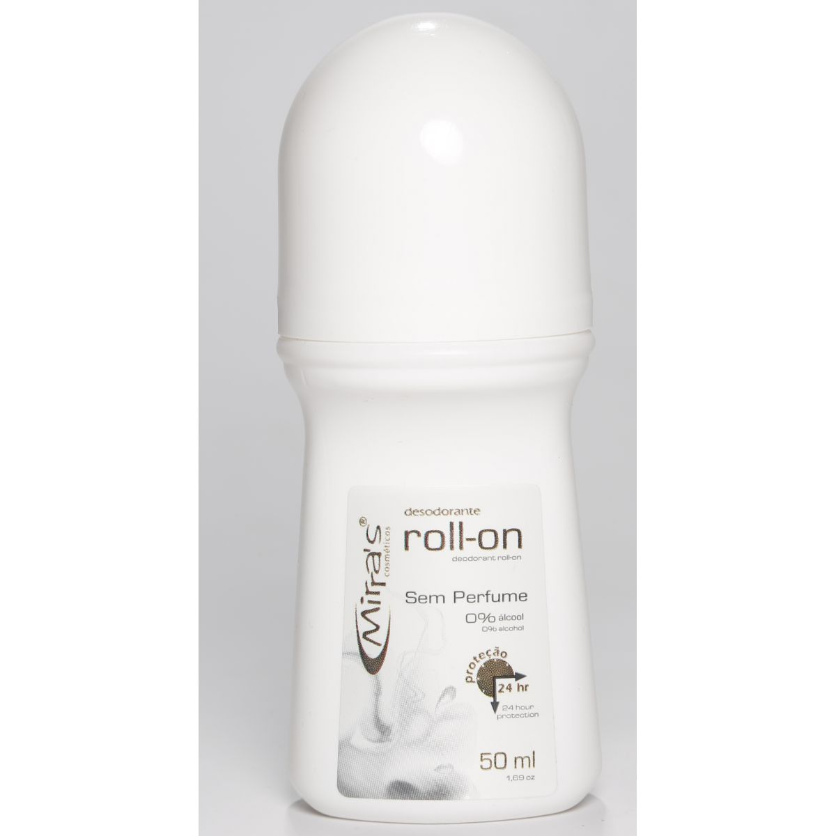 Desodorante Roll-on Sem Perfume Antitranspirante 50ml - Mirra´s