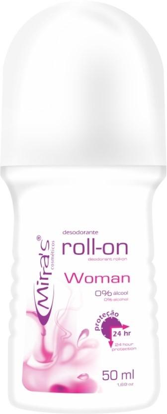 Desodorante Roll-on Woman Antitranspirante 50ml - Mirra´s