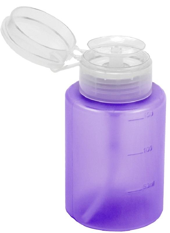 Dosador Porta Acetona Plástico Simples Lilás 150ml - Santa Clara